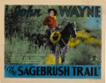 "Movie Posters:Western, Sagebrush Trail (Monogram, 1933). Title Lobby Card (11"" X 14"")...."