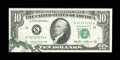 Error Notes:Foldovers, Fr. 2027-K $10 1985 Federal Reserve Note. Very Choice CrispUncirculated.. ...