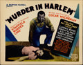 "Movie Posters:Drama, Murder in Harlem (Micheaux Film Corporation, 1935). Title LobbyCard (11"" X 14"")...."