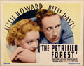 "Movie Posters:Crime, The Petrified Forest (Warner Brothers, 1936). Title Lobby Card (11""X 14"")...."