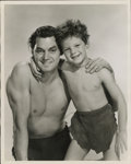 "Movie Posters:Adventure, Johnny Weissmuller and Johnny Sheffield in ""Tarzan Finds a Son""Publicity Still (MGM, 1939). Still (8"" X 10"")...."