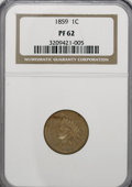 Proof Indian Cents, 1859 1C PR62 NGC....