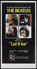 "Movie Posters:Rock and Roll, Let It Be (United Artists, 1970). Three Sheet (40.5"" X 80.5""). Rockand Roll...."