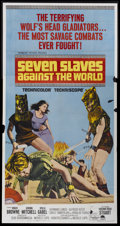 """Movie Posters:Adventure, Seven Slaves Against the World (Paramount, 1965). Three Sheet (41""""X 81""""). Adventure...."""
