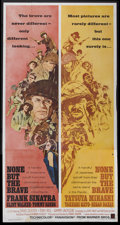 "Movie Posters:War, None But the Brave (Warner Brothers, 1965). Three Sheet (41"" X81""). War...."