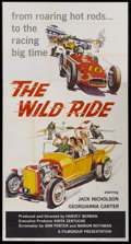 "Movie Posters:Crime, The Wild Ride (Filmgroup, Inc., 1960). Three Sheet (41"" X 81"").Crime...."