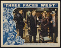 "Movie Posters:Adventure, Three Faces West Lot (Republic, 1940). Lobby Cards (3) (11"" X 14"").Adventure.... (Total: 3 Items)"