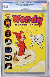 Wendy, the Good Little Witch #70 File Copy (Harvey, 1971) CGC NM/MT 9.8 Off-white to white pages