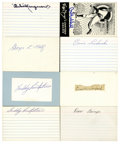 Autographs:Index Cards, New York Giants Greats Signed Index Cards Lot of 8. Collection of eight signed index cards comes from former members of the...