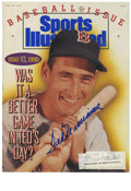 Autographs:Others, Ted Williams Signed Sports Illustrated Magazine. Gloriously signedSports Illustrated magazine from 1990 carries on its ...