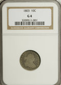 Early Dimes, 1803 10C Good 4 NGC....