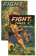 Golden Age (1938-1955):Adventure, Fight Comics #72 and 80 Group (Fiction House, 1951).... (Total: 2 Comic Books)