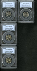 Jefferson Nickels, 1997-P 5C MS66 Full Steps PCGS,... (Total: 4 coins)