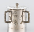 Silver Holloware, American:Creamers and Sugars, AN AMERICAN SILVER AND SILVER GILT SUGAR BOWL. Tiffany & Co.,New York, New York, circa 1877. Marks: TIFFANY & CO., 4683M...