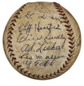 Autographs:Baseballs, 1932 Philadelphia Phillies Team Signed Baseball. Fantastic vintageorb presented here comes to us by way of the 1932 Philad...