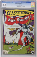 Golden Age (1938-1955):Classics Illustrated, Classic Comics #11 Don Quixote - Original Edition (Gilberton, 1943)CGC VF+ 8.5 Off-white to white pages....