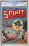 Golden Age (1938-1955):Crime, The Spirit #nn (#2) (Quality, 1945) CGC VF 8.0 Off-white pages....