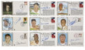 Autographs:Others, Baseball Hall of Famers Signed First Day Covers Lot of 9. Pristine blue sharpie signatures adorn equally flawless cachets c...