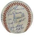 Autographs:Baseballs, 1995 New York Yankees Team Signed Baseball. Buck Showalter's 1995New York Yankees are represented here by the 21 signature...