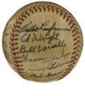 Autographs:Baseballs, 1947 Boston Braves Team Signed Baseball. From their stretch in thecity of Boston, we present this fabulously preserved ONL...