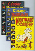 Bronze Age (1970-1979):Cartoon Character, Casper and Nightmare File Copies Group (Harvey, 1965-71) Condition:Average VF+.... (Total: 9 Comic Books)