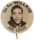 Political:Pinback Buttons (1896-present), Wendell Willkie: Rarest of the Joe Louis For Willkie Buttons....
