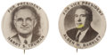 Political:Pinback Buttons (1896-present), Truman & Barkley: Rare Matched Pair of 1948 CampaignPinbacks.... (Total: 2 Items)