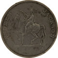 Political:Tokens & Medals, Andrew Jackson: Large 1828 Campaign Medal Featuring Jackson on Horseback....