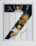 "Baseball Collectibles:Others, Mickey Mantle Signed ""Yankee 7"" Lithograph. Fine work by notedsports artist Samantha Wendell offers several skillful portra..."