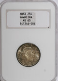 Coins of Hawaii, 1883 25C Hawaii Quarter MS65 NGC....