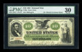 Large Size:Demand Notes, Fr. 9a $10 1861 Demand Note PMG Very Fine 30....