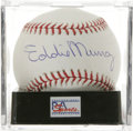 Autographs:Baseballs, Eddie Murray Single Signed Baseball, PSA Mint+ 9.5. Eddie Murraywas an absolute monster with the bat. As one of the game's...