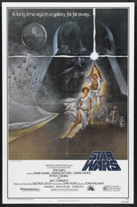 "Star Wars (20th Century Fox, 1977). One Sheet (27"" X 41"") Style A. Science Fiction. Starring Mark Hamill, Harr..."