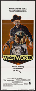 "Movie Posters:Science Fiction, Westworld (MGM, 1973). Insert (14"" X 36""). Science Fiction.Starring Yul Brynner, James Brolin, Richard Benjamin and Norman ..."