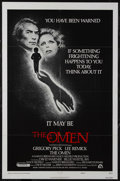 "Movie Posters:Horror, The Omen (20th Century Fox, 1976). One Sheet (27"" X 41"") Style F. Horror. Starring Gregory Peck, Lee Remick, David Warner, H..."