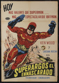 "Movie Posters:Adventure, Superargos el Enmascarado (Columbia, 1967). Mexican One Sheet(27.5"" X 39""). Adventure. Starring Giovanni Cianfrigilia (Ken ..."