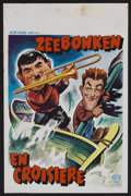 """Movie Posters:Comedy, Saps at Sea (Alfa Films, R-1940s). Belgian Poster (14"""" X 22""""). Comedy. Starring Stan Laurel, Oliver Hardy, James Finlayson, ..."""
