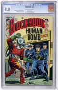 Golden Age (1938-1955):War, Blackhawk #79 (Quality, 1954) CGC VF 8.0 Off-white to whitepages....