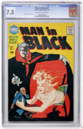 Silver Age (1956-1969):Horror, Man in Black #1 (Harvey, 1957) CGC VF- 7.5 Off-white to whitepages....