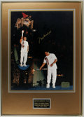 """Boxing Collectibles:Autographs, 1996 Muhammad Ali Signed Large Photograph. Attractive 16x20"""" photoof the boxing legend lighting the Olympic torch at the A..."""