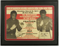 Boxing Collectibles:Autographs, Muhammad Ali & Joe Frazier Signed Fight Poster. Attractivereproduction of the poster announcing the fight that would resul...