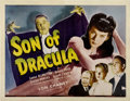 "Movie Posters:Horror, Son of Dracula (Universal, 1943). Half Sheet (22"" X 28"")...."