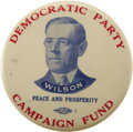 """Political:Small Miscellaneous (1896-present), Woodrow Wilson: Rare Celluloid Dime Bank, the U. I. """"Chick"""" Harris Collection Example...."""