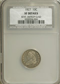 Bust Dimes: , 1827 10C --Bent, Improperly Cleaned--NCS. XF Details. NGC Census:(5/215). PCGS Population (14/198). Mintage: 1,300,000. Num...