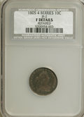 Early Dimes: , 1805 10C 4 Berries--Repaired--NCS. Fine Details. JR-2. NGC Census:(11/200). PCGS Population (16/229). Mintage: 120,780. N...