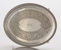 Silver Holloware, American:Trays, AN AMERICAN SILVER OVAL TRAY. Edward C. Moore, New York, New York,circa 1854. Marks: TIFFANY & CO., 719, M, ENGLISHSTERL...