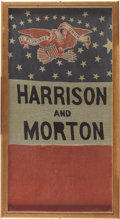 Political:Textile Display (pre-1896), Harrison & Morton: Unique Variant of a Familiar ClothBanner....