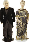 Political:3D & Other Display (1896-present), Franklin and Eleanor Roosevelt: Exceptional Pair of VintageDolls.... (Total: 2 Items)