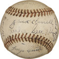Autographs:Baseballs, 1943 St. Louis Browns Team Signed Baseball. Luke Sewell's boys fromthe 1943 St. Louis Browns squad are represented here by...