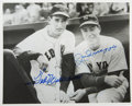 Autographs:Photos, Ted Williams and Joe DiMaggio Dual-Signed Photograph. Some luckyphotographer was lucky enough to catch the slugging heroe...